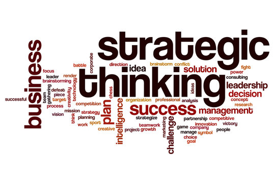 Strategic thinking word cloud