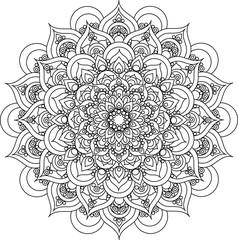 Beautiful ornate vintage vector mandala illustration for anti stress coloring books