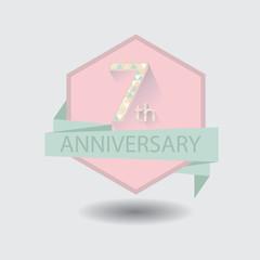 7th aniversary celebration design badge