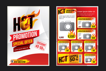 Advertising design template. Vector illustration