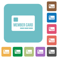 Flat member card icons