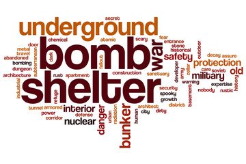 Bomb shelter word cloud