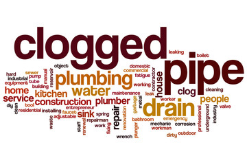 Clogged pipe word cloud