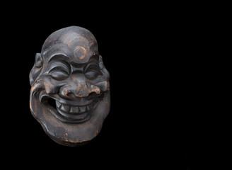 fat man mask smiling