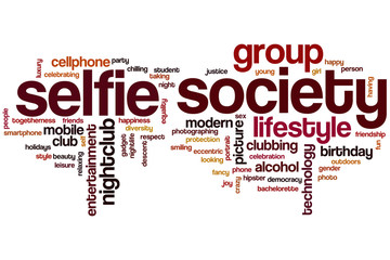 Selfie society word cloud