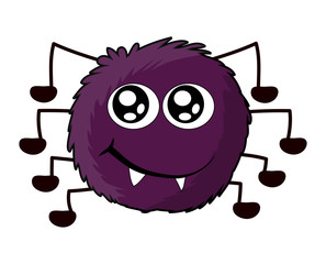 halloween cute spider vector symbol icon design.