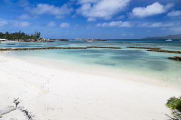 Beautiful Beach, La Digue Harbor, Seychelles