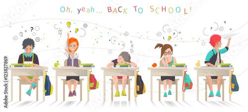 Modern Classroom Vector : Quot modern vector illustration back to school concept