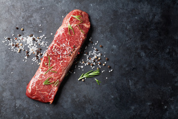 Wall Mural - Raw striploin steak