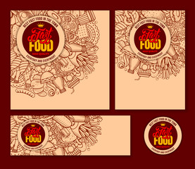 Fast Food Templates Set