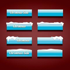 Christmas web buttons set. winter web buttons