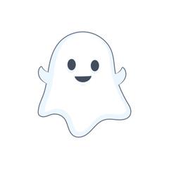 Happy Halloween ghost illustration