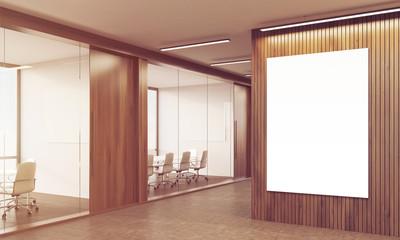 Sunlit coworking interior