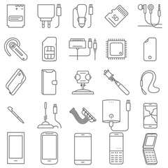 Mobile service vector icons