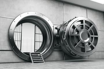 Wide open vault door