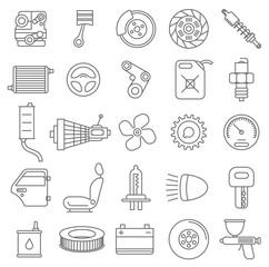 Car service vector icons