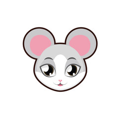 Mouse portrait illustration