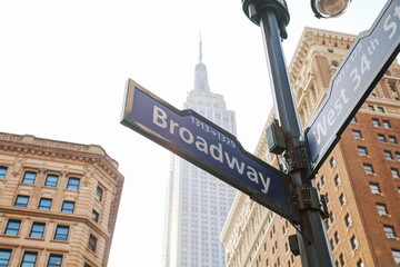 Broadway sign in New York