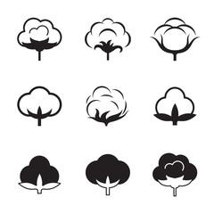 Cotton icon set