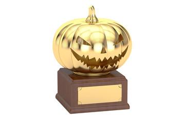 Golden Halloween Pumpkin Award, 3D rendering