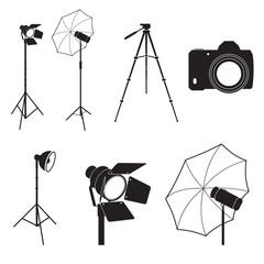 Set of photo studio equipment