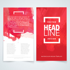 Brochure design template vector.Flyers report business watercolor magazine poster. Cover book presentation portfolio.Cover brochure design a4 layout background