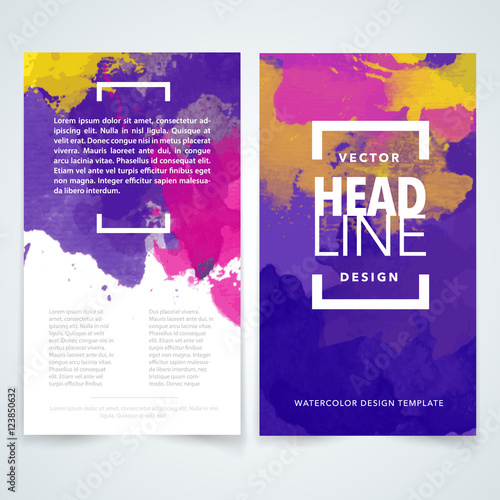 colorful brochure design template vector flyers report business
