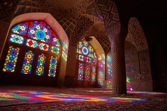 Nasir al-Mulk Mosque in Shiraz city