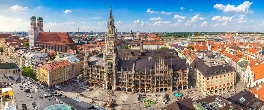 Munich city skyline panorama, Munich, Germany