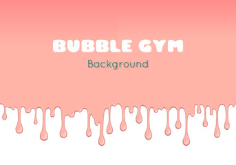 Background with pink bubble gum.