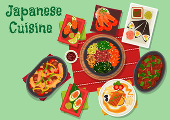 Japanese cuisine spicy dinner dishes icon