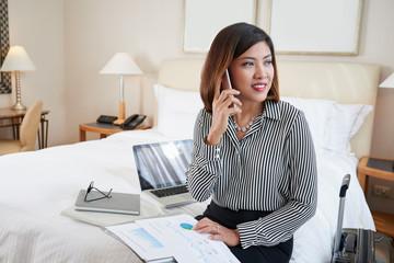 Calling lady