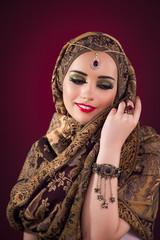 Muslim woman with nice jewellery