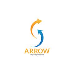arrow up top logo icon vector tempalte