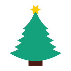 tree pine christmas isolated icon vector illustration design