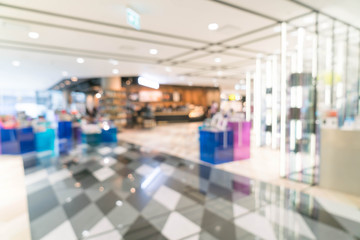 Abstract blur beautiful luxury shopping mall and retails store i