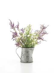 statice and caspia flower in vase