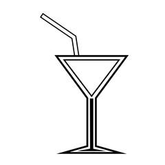 cocktail glass liquor drink over white background. vector illustration