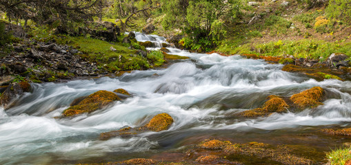 Rapid and wide cascade river