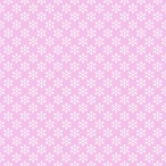 Pink seamless snowflake pattern