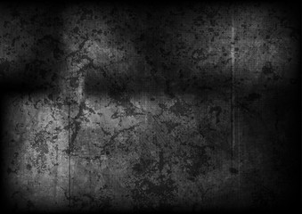 Black gradient grunge ancient wall texture
