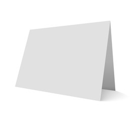 Empty vector mockup illustration greeting card isolated on white.