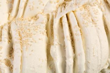 Vanilla ice-cream with nuts full of taste.