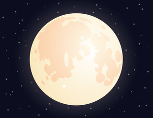 Moon on starry sky background for your design.