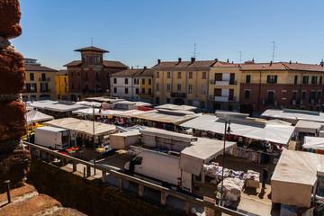 Il mercato settimanale del venerdì, Galliate, Novara, Piemonte, Italia