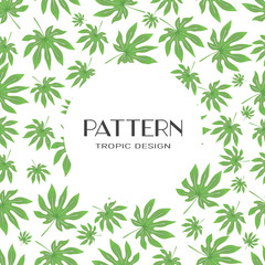 Seamless Pattern. Tropical Palm Leaves Background. Banana . Vector . Exotic Flowers Texture.