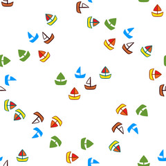 Abstract colorful background with boats