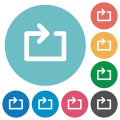 Flat media loop icons