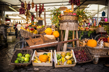 colorful vegetable assortment at marketplace