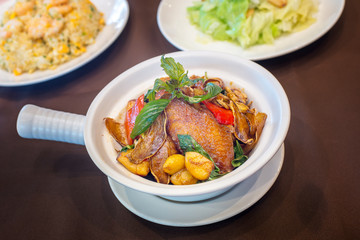 Claypot chicken wings in spicy style